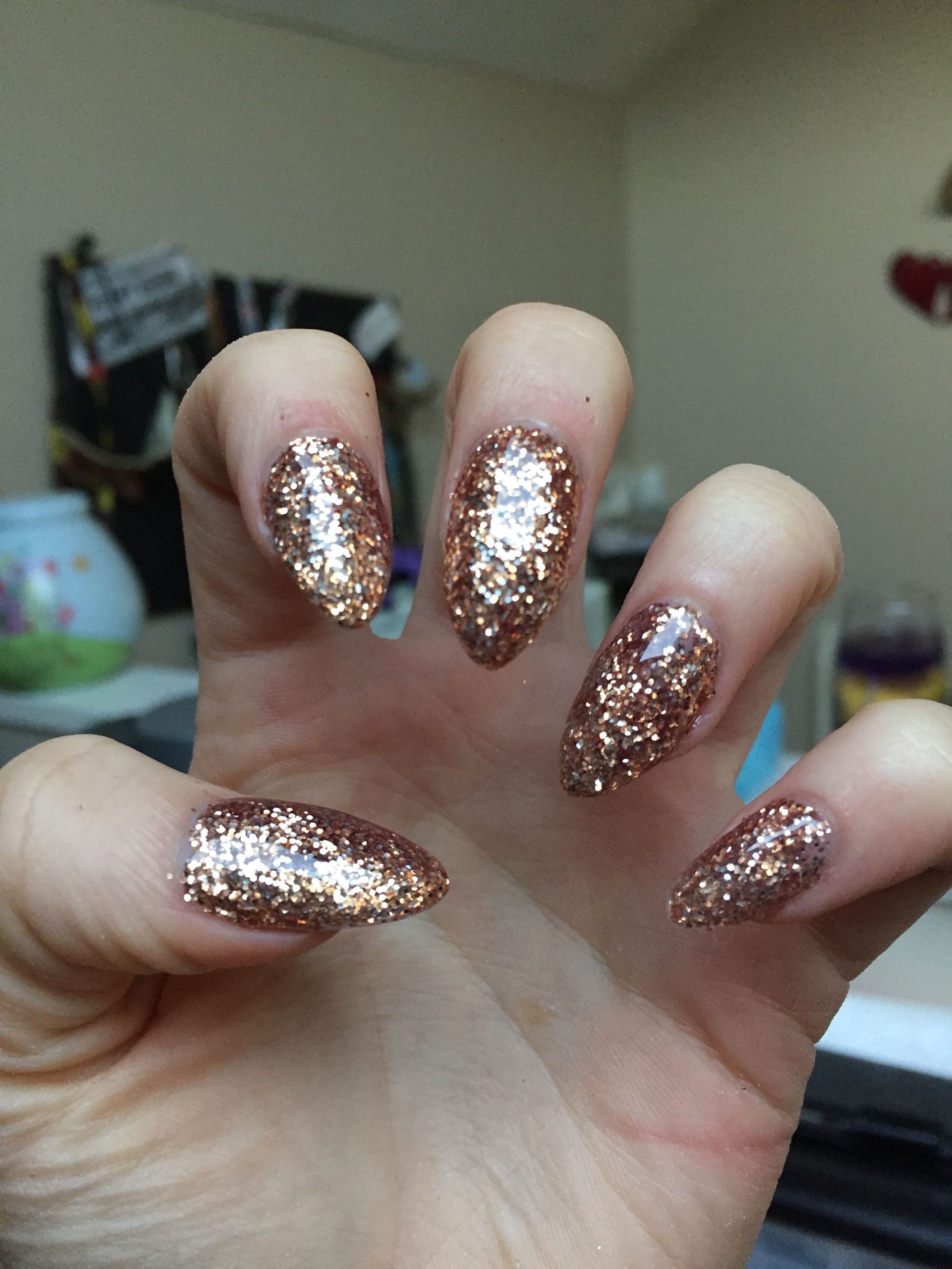 copper glitter acrylic nails diy | nails, fashions, etc
