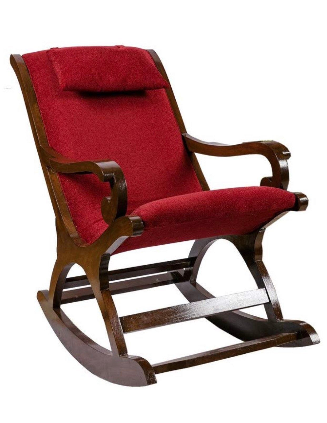 Teak Wood Rocking Chair, Multiple Cushion Colours, Wood