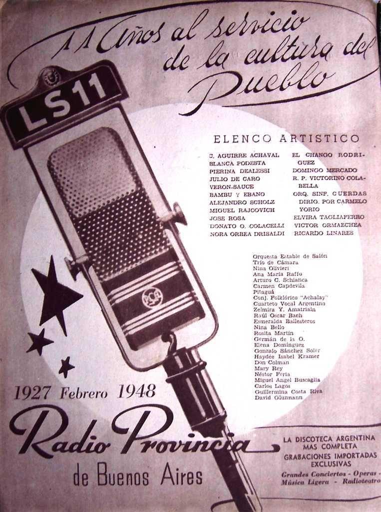 LS 11 Radio Provincia 1948 | Publicidad retro, Publicidad grafica,  Publicidad