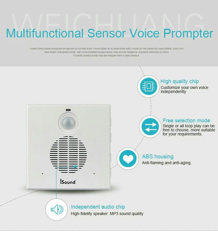 motion sensor sound reminder voice prompt devices for indoor, house