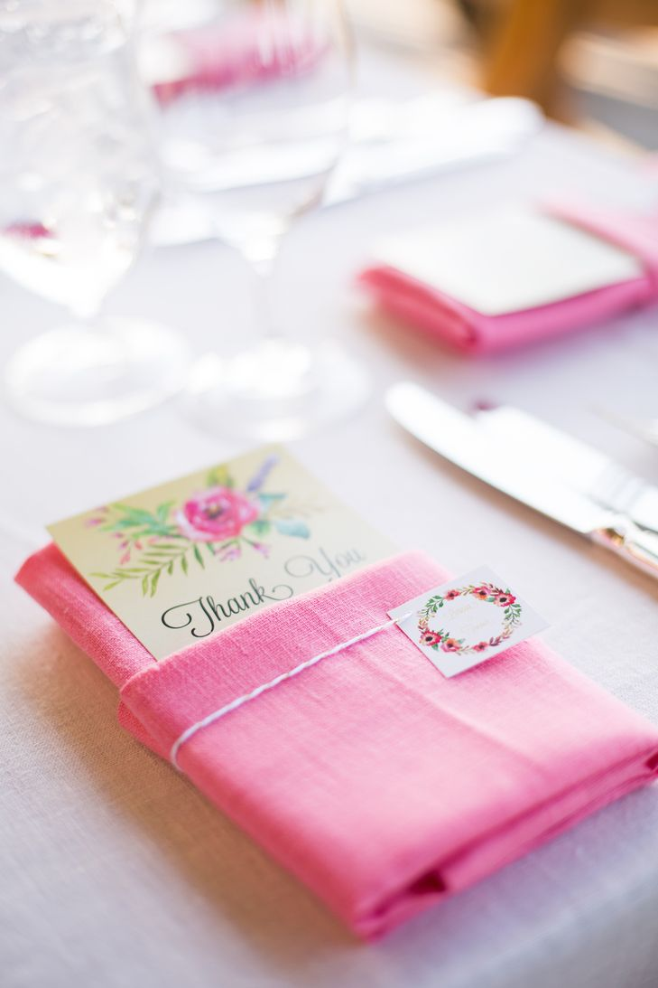 Floral Thank You Notes and Pink Linens | JANAE SHIELDS PHOTOGRAPHY ...