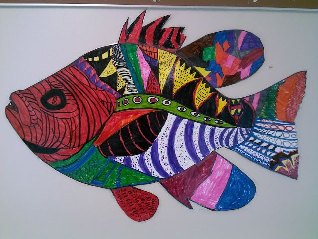 Teaching Elementary and Middle School Art | Fish art, Middle ...