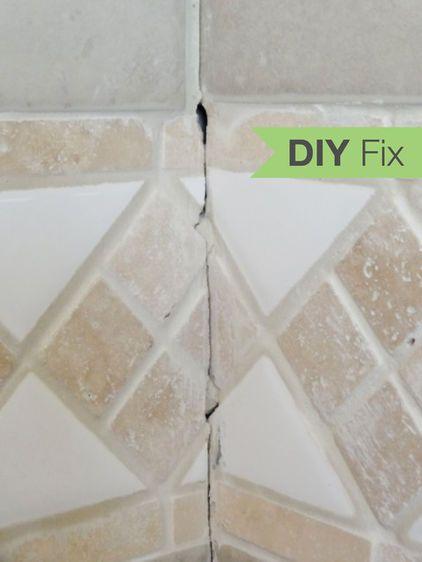 Quick Fix Repair Cracked Bathroom Grout Tile Repair Grout Repair Bathroom Grout