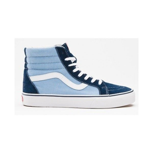 f2a2096e81 Vans Shoes OG Blue Genuine Womens Mens Sk8-Hi Suede Canvas Skate... ❤ liked  on Polyvore featuring men s fashion