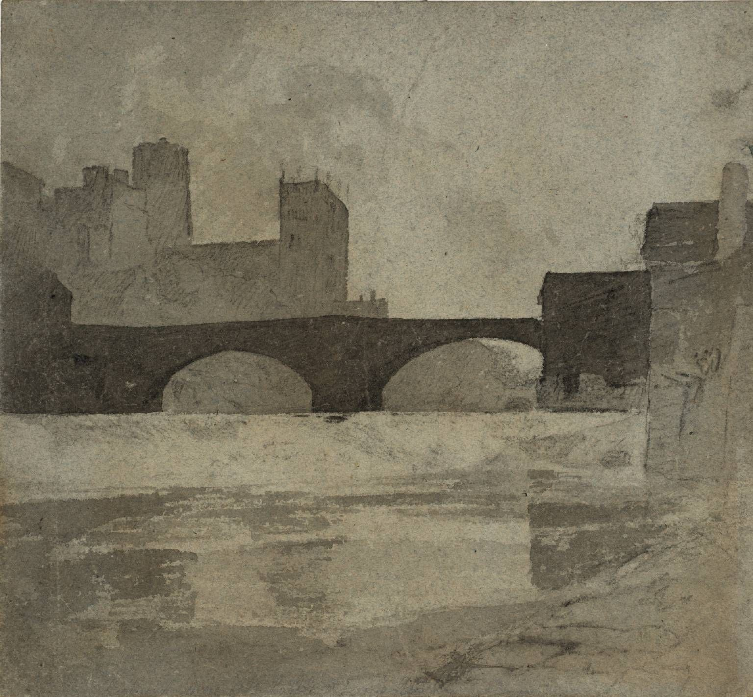 John Sell Cotman 1782–1842 Durham c.1805 Watercolour and graphite on paper 235 x 254 mm