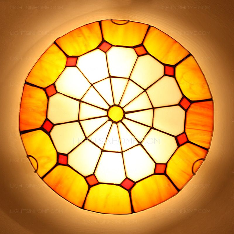 Tiffany style flush mount ceiling light and yellow stained glass tiffany style flush mount ceiling light and yellow stained glass aloadofball Gallery