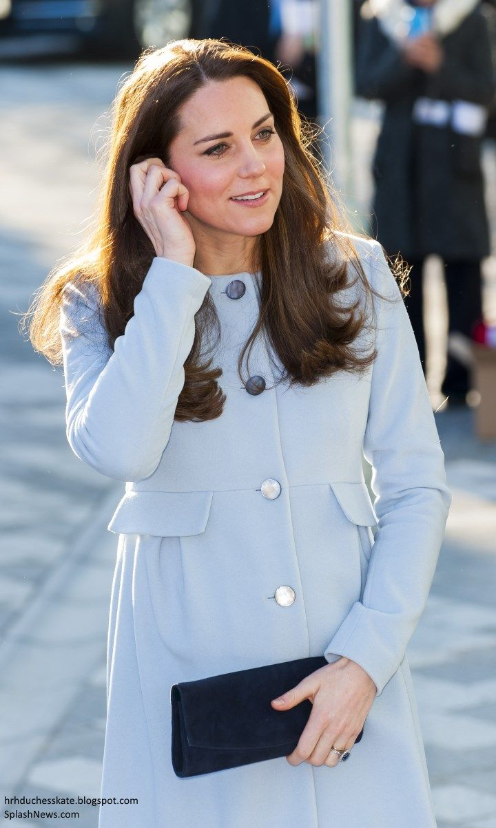 66067e3d1ac Duchess Kate  Kate in Seraphine for Day of Engagements in Kensington ...