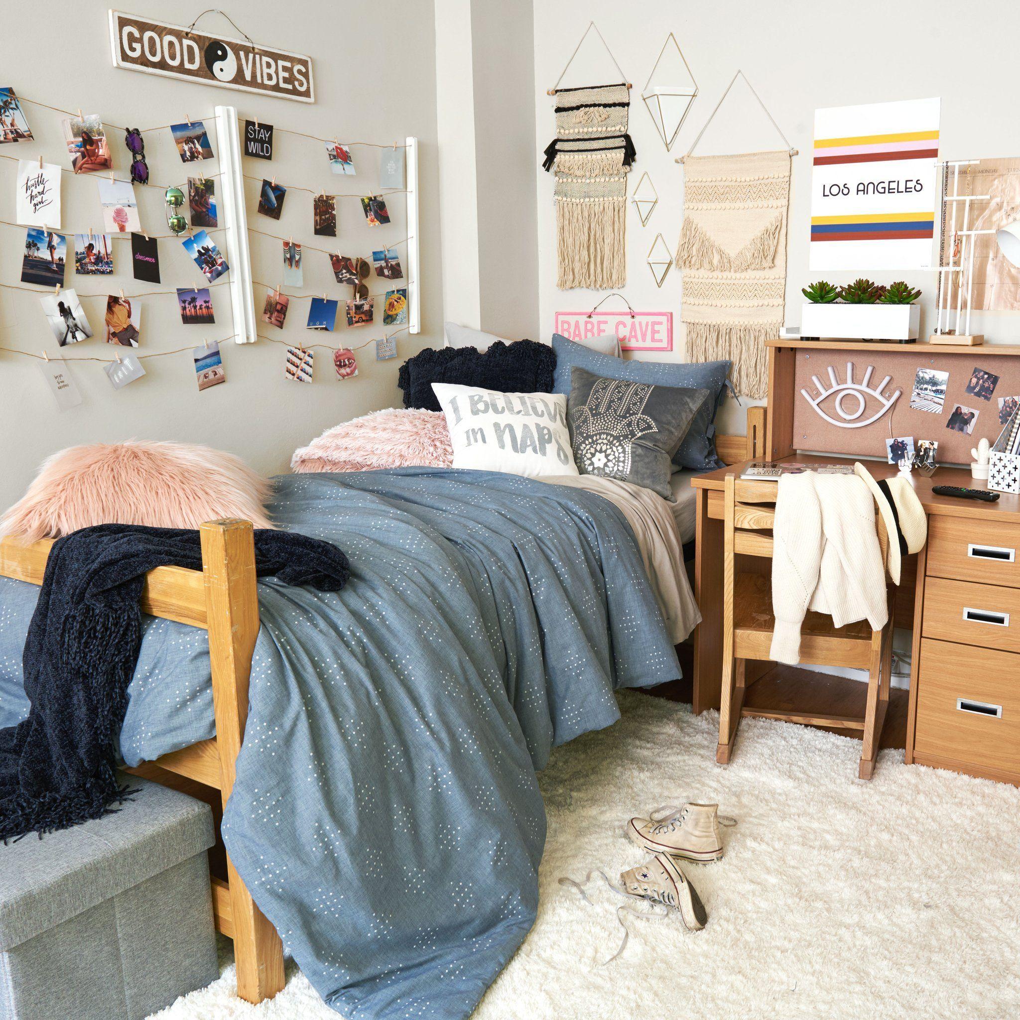 Dorm Room Ideas - College Room Decor - Dorm Inspiration ...