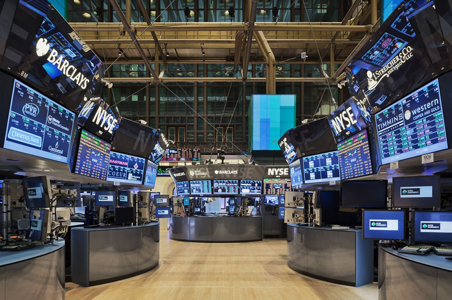 New York Stock Exchange Next Generation Trading Floor Stock