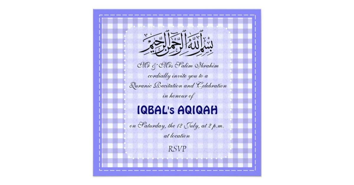 Muslim Baby Boy Aqiqah Invitation Zazzle Com Baby Boy