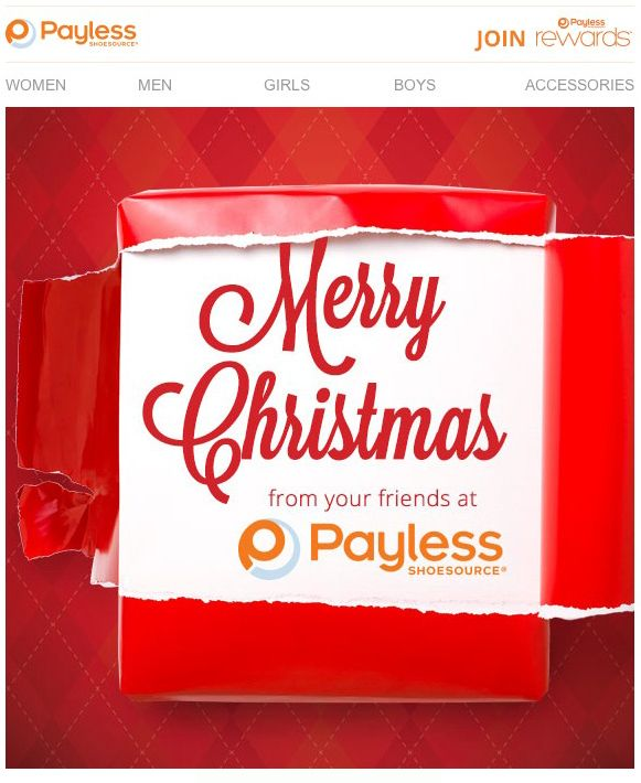 Payless  Holiday Letter  Email Design  Inspiration