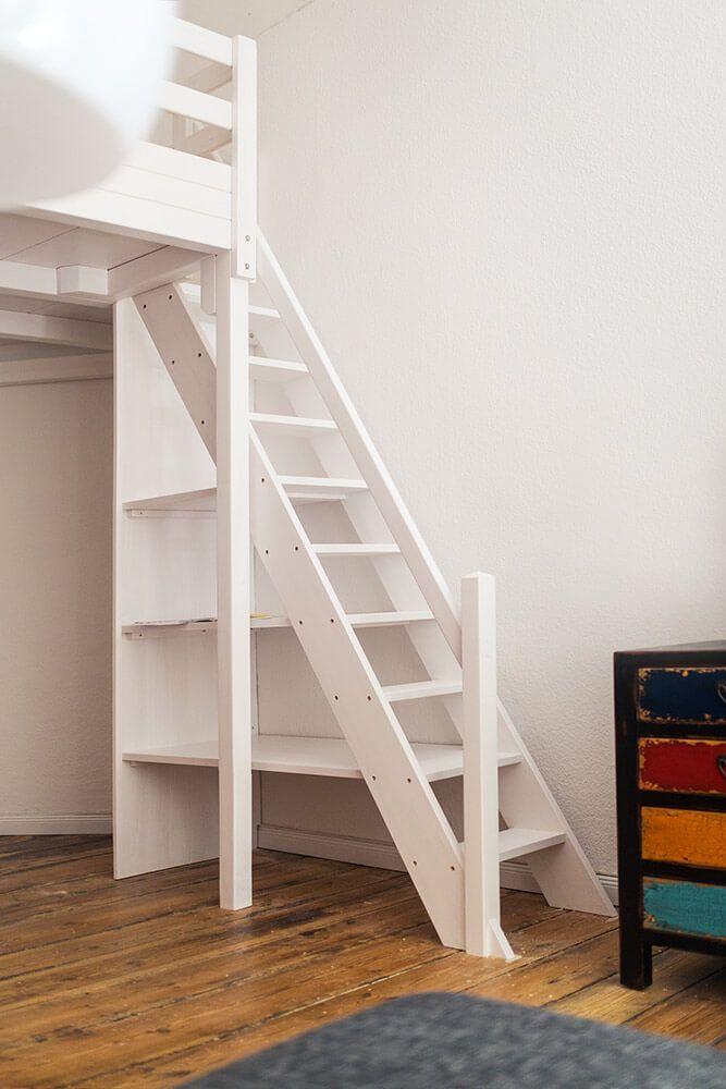 Treppenregale, Regal-Treppen, Treppenschränke der Tischlerei Hardys Hochbetten