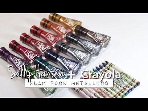 Swatches Sally Hansen X Crayola Instadri Glam Rock Metallic
