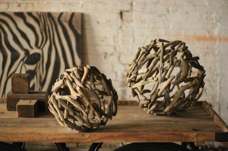 le bois flott en d co 52 id es originales bois. Black Bedroom Furniture Sets. Home Design Ideas