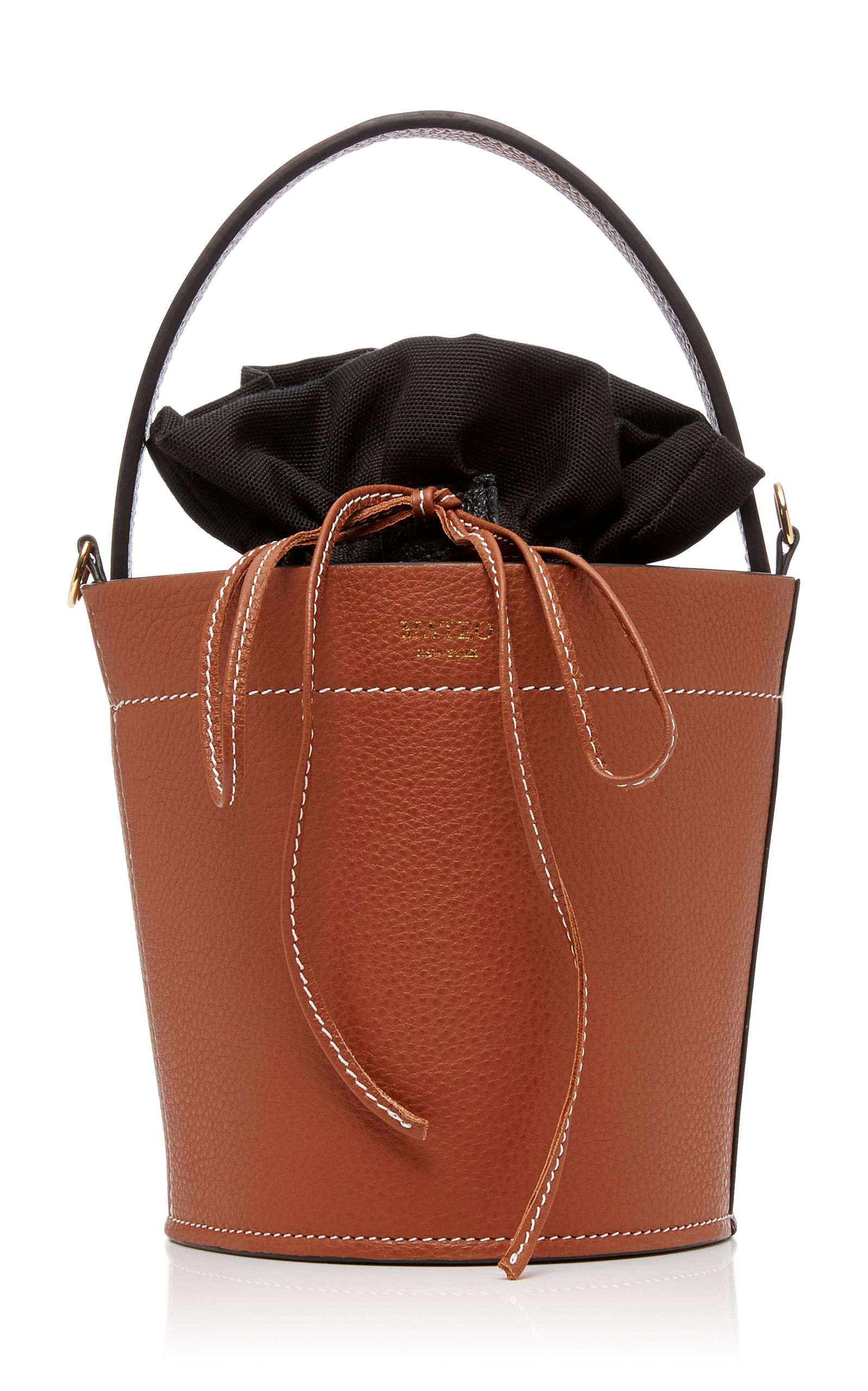 60db7109fd1a MATEO THE MADELINE BUCKET BAG IN COGNAC.  mateo  bags  bucket ...
