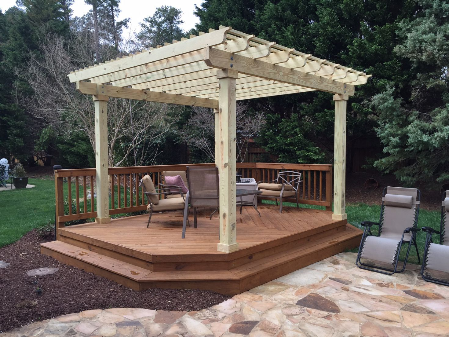 Detached Platform Deck with Pergola by Archadeck