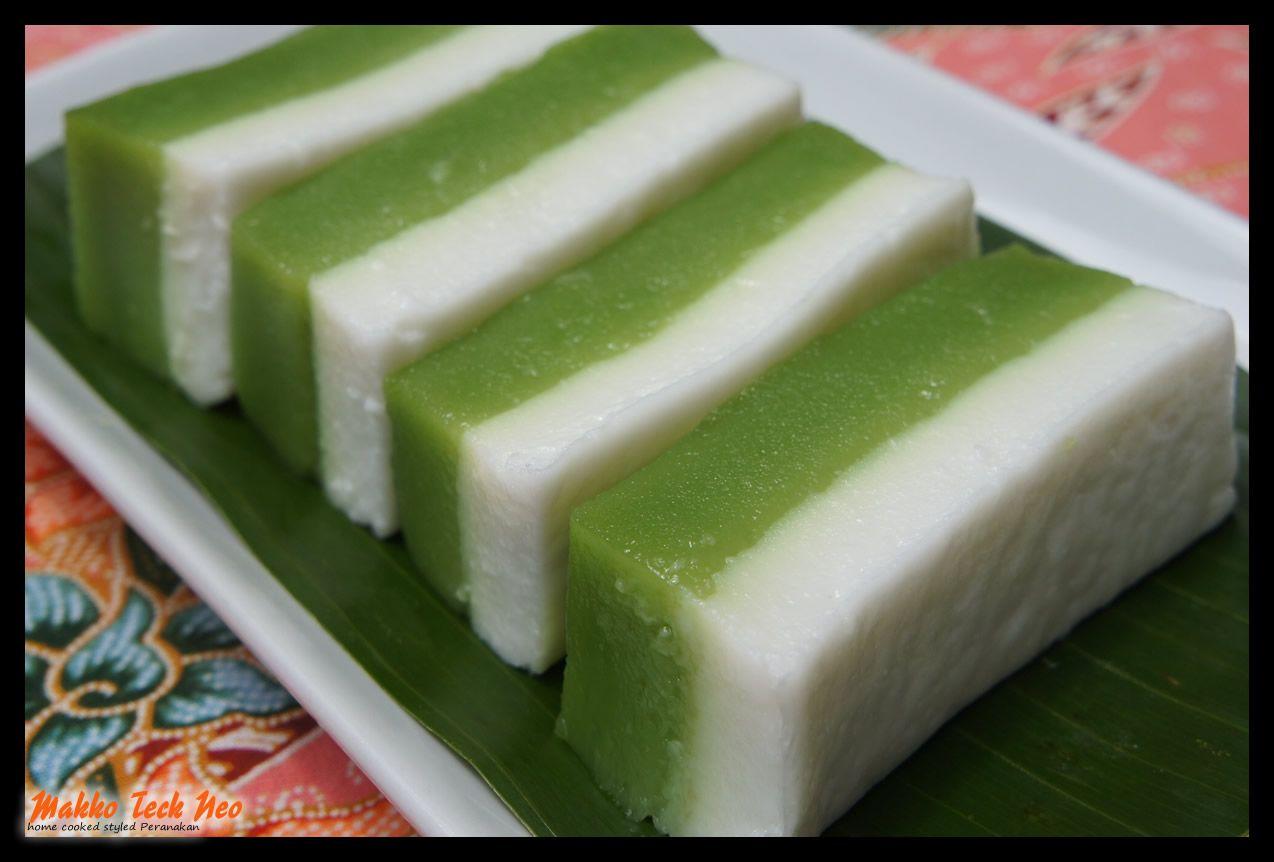 Pin Nonya Kueh Talam Pandan Cake On Pinterest Nyonya Food Malaysian Dessert Pandan Cake