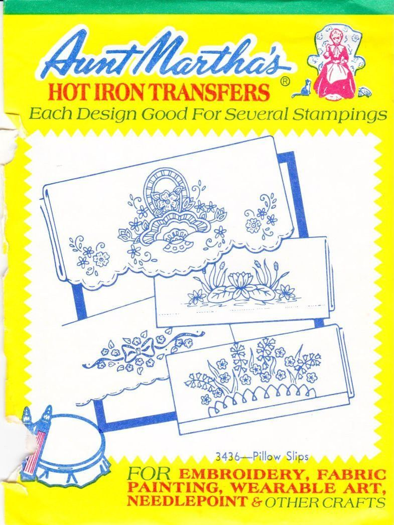 Aunt Martha\'s Hot Iron Transfers From Colonial Patterns RETIRED 343 ...