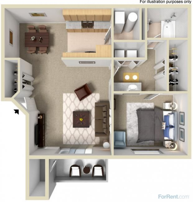 Willow Cove Apartments For Rent In West Jordan Utah Small Apartment Floor Plans Apartment Layout Small Apartment Layout