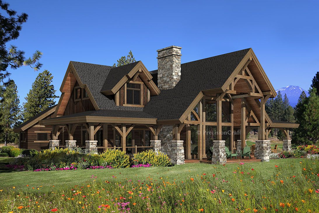 Hawksbury Timber Frame Home By Precision Craft Log