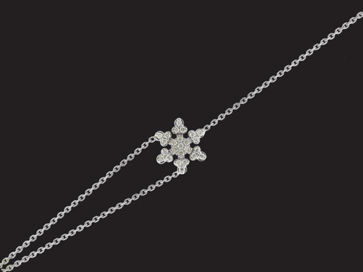 Diamond snowflake bracelet