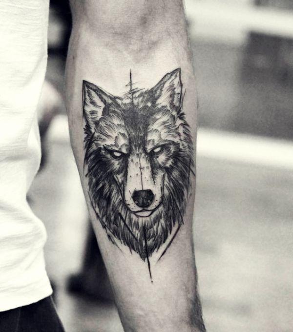 Trends - 40 männliche Wolf Tattoo Designs für Männer - Sam Michael - ... - Tätowierungen für Männer #tattoodesigns
