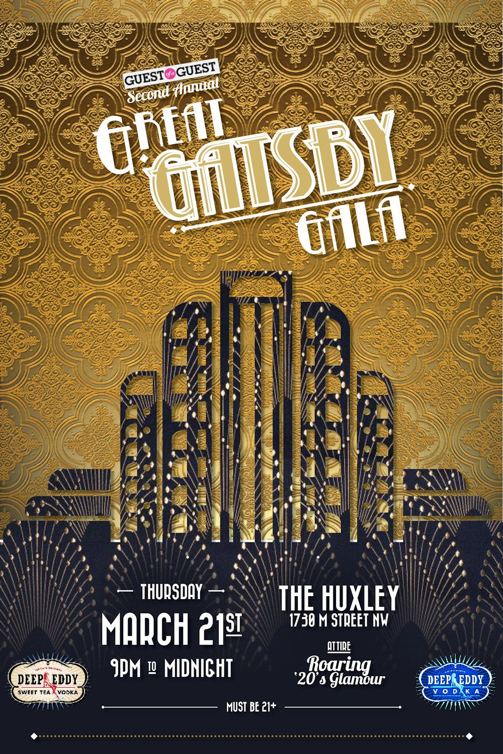 Great Gatsby Party Invitation Template send cards online