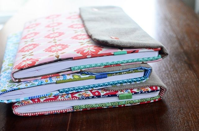 Fabric Book Jacket Pattern : Free pattern for making a snappy composition book cover
