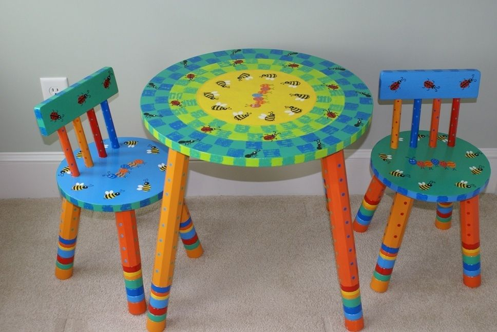 Captivating Painted Kids Furniture. Image Detail For  Hand Painted Furniture Pieces  Provided By The