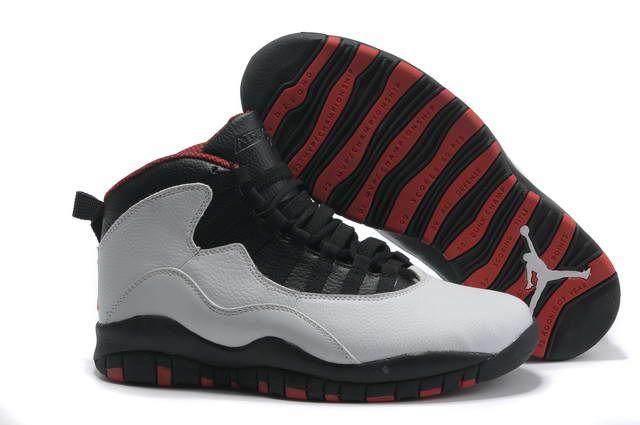 best website 039ef a12cc Retro Air Jordan 10 Chicago Bulls White Black True red ...