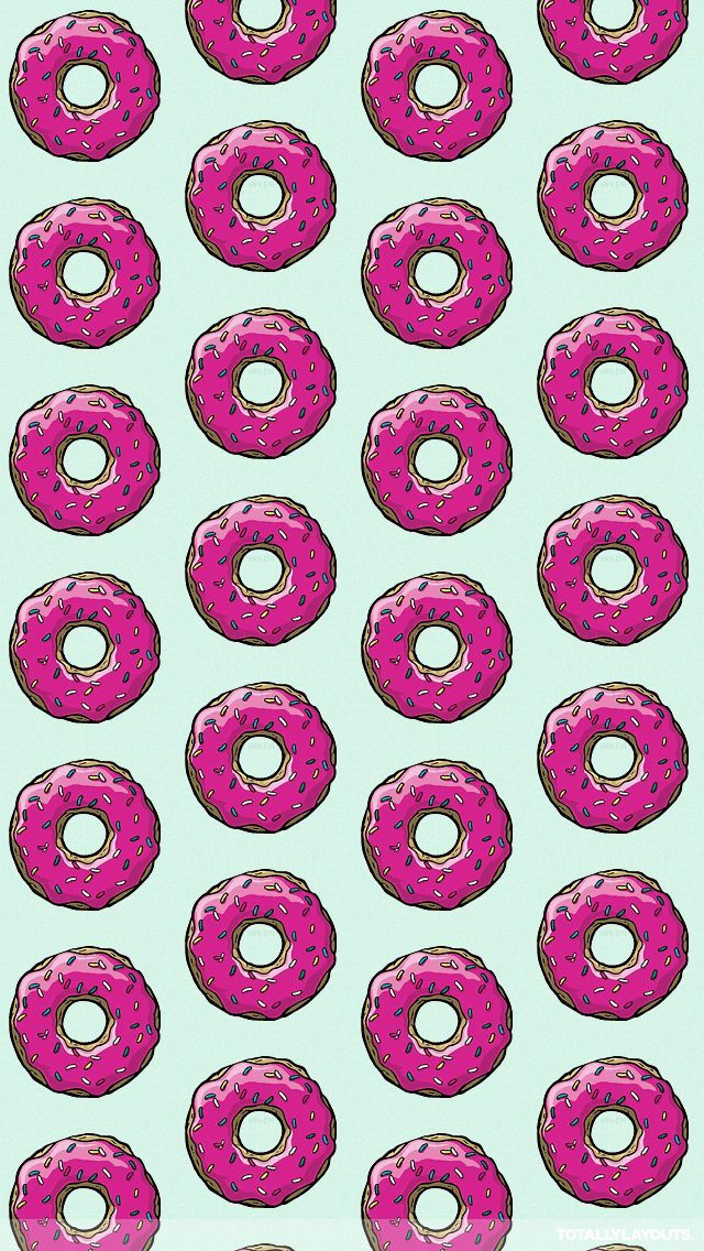 Donut Wallpaper We Heart It Wallpaper Pink Wallpaper