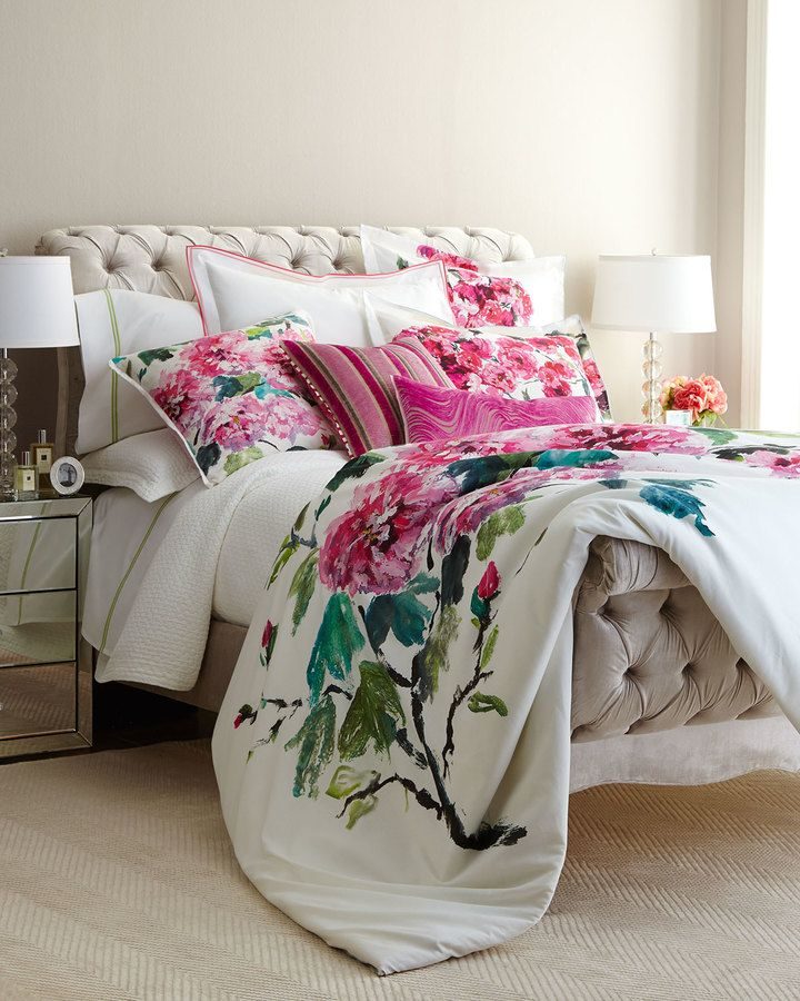 I love this botantical and floral designers guild shanghai garden i love this botantical and floral designers guild shanghai garden bedding this perfect white background with pink flower bedding is perfect for adding a mightylinksfo