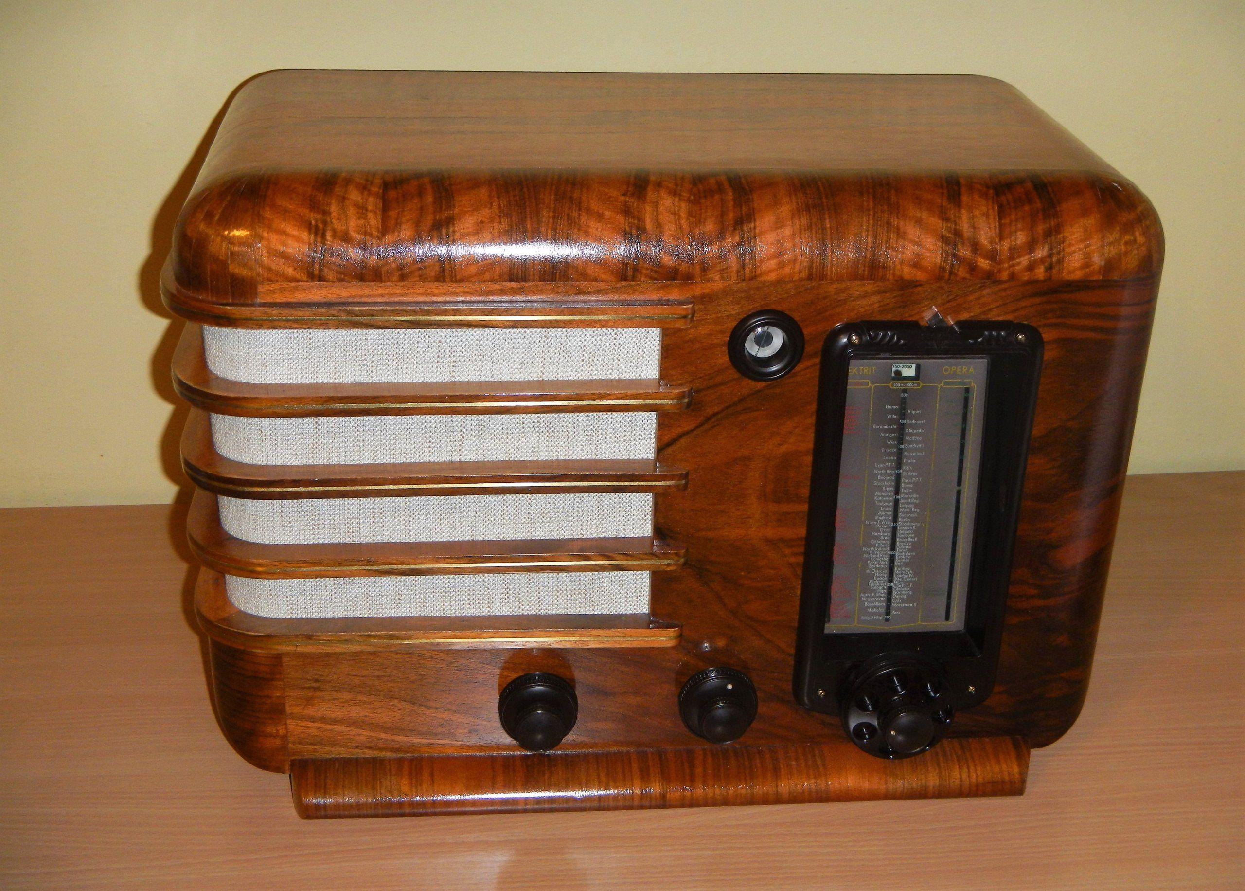Luksusowe Przedwojenne Radio Elektrit Opera Z 6629983410 Oficjalne Archiwum Allegro Antique Radio Radio Timber Wood