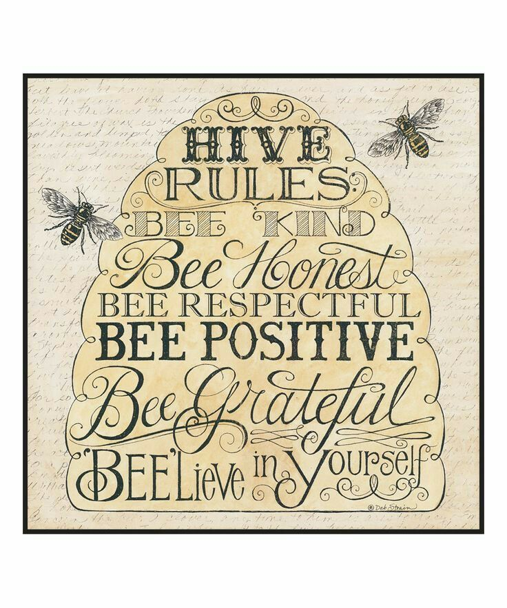 Pin by Pamela Sutton on sayings Bee happy, Bee crafts, Bee