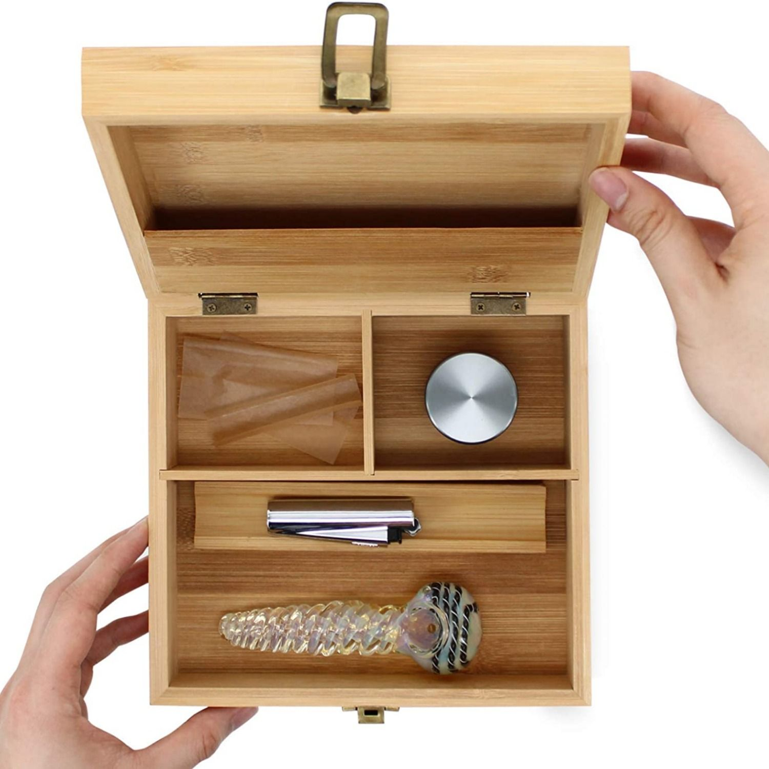 Stash Box with Rolling Tray and Smoking Accessories Included