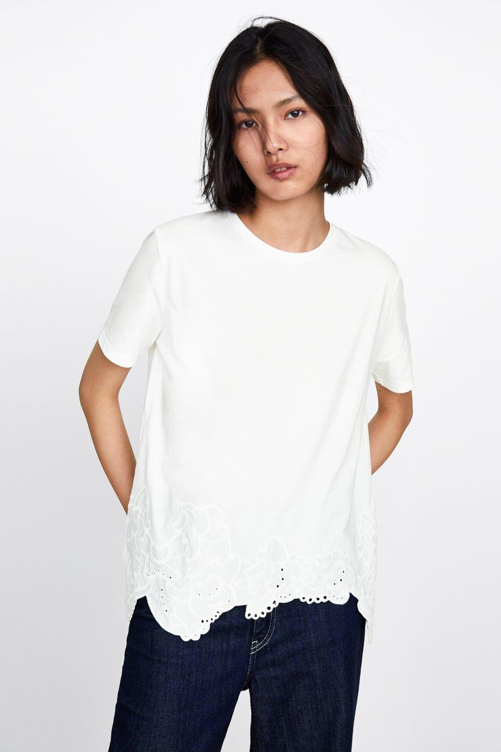 Best White T Shirt With Embroidered Hem Plain White T Shirt 400 x 300