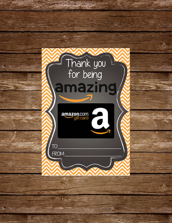 Thank you with amazon gift card free printable download free amazon gift card holder tag printable negle Image collections