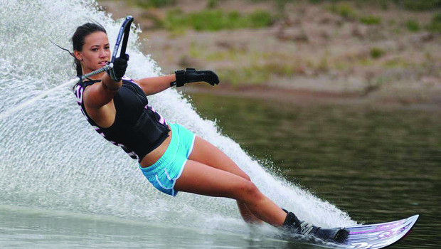Freshman Water Skier Wins National Title Slalom Water Skiing Kite Surfing Surfing