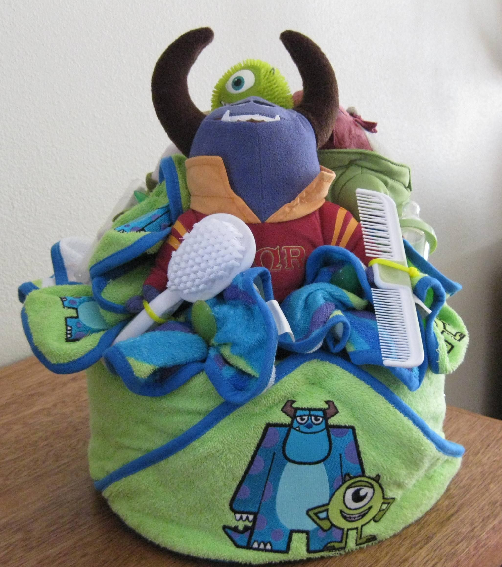 Monster University Baby bath and medi kit base is 2 dozen disposable ...