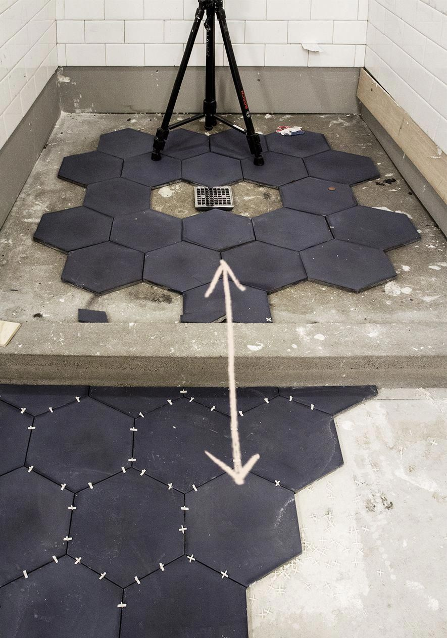 Cement Hexagon Tile By Cle Tile Installation Bathroommakeovers