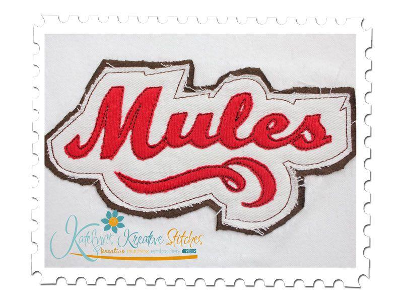 Mules Distressed Applique