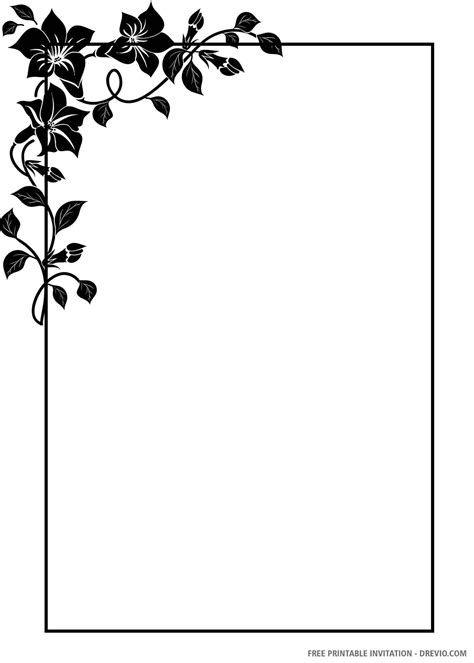 (free Printable) – Black And White Floral Wedding