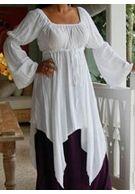 SHIRLEY Renaissance Bluse - weiß