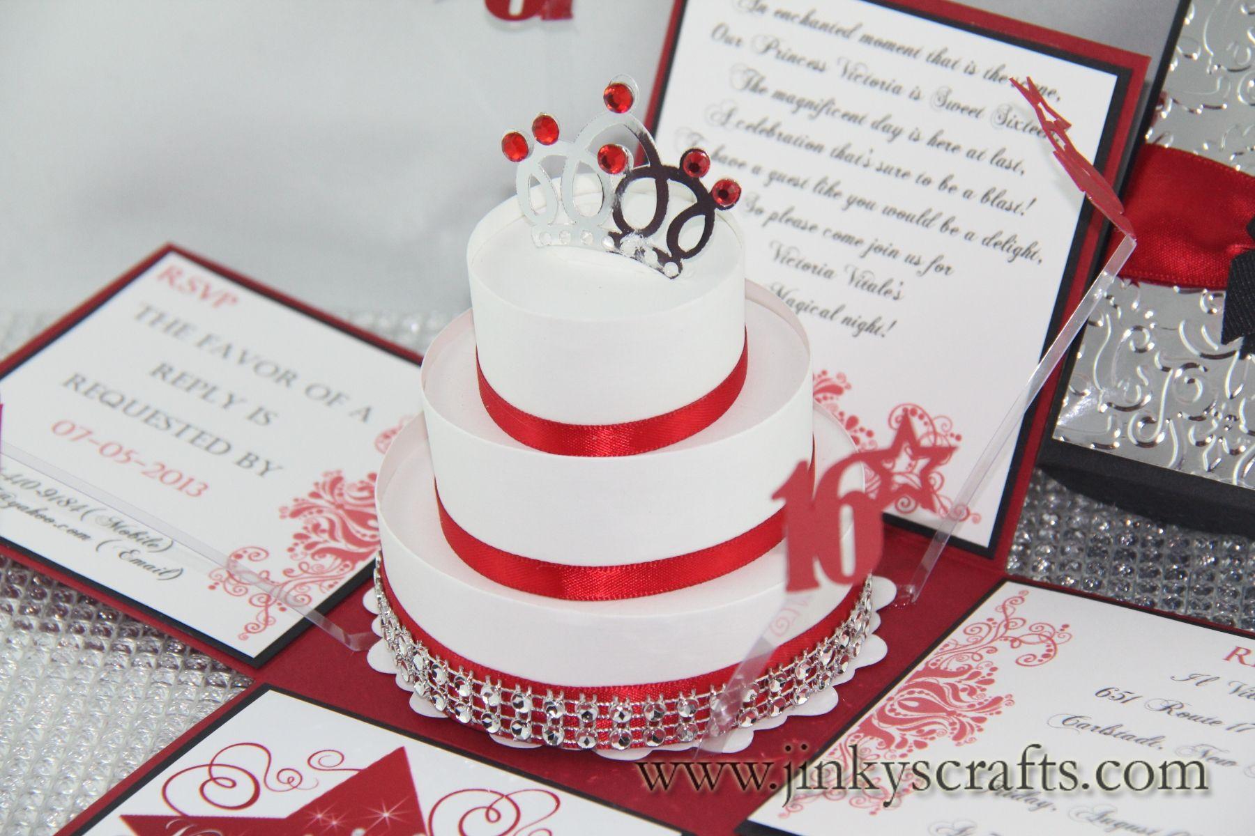 jinky\'s crafts crown invitation | Elegant Custom Sweet Sixteen ...
