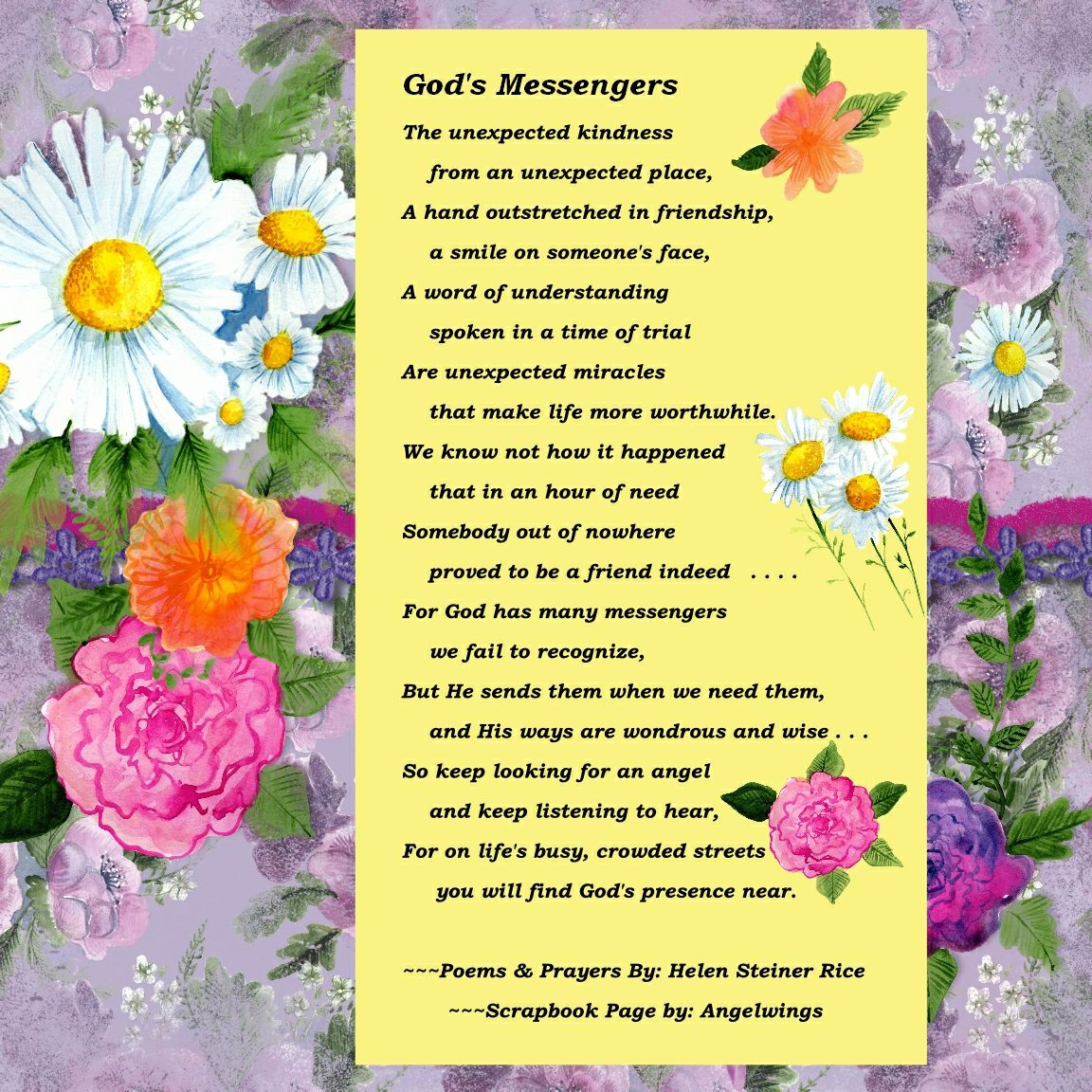 God's Messengers by Helen Steiner Rice, Scrapbook by Angelwings