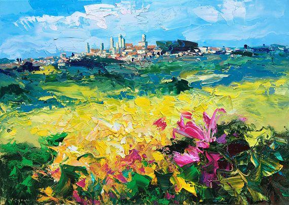 f27240634bb San Gimignano Tuscany Landscape Painting 40
