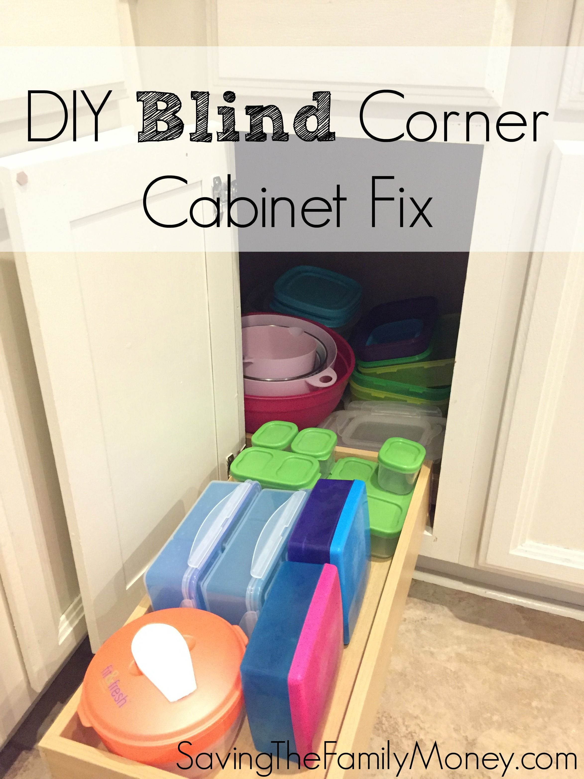 Kitchen corner cabinet wasted space - Diy Blind Corner Cabinet Fix Kitchen