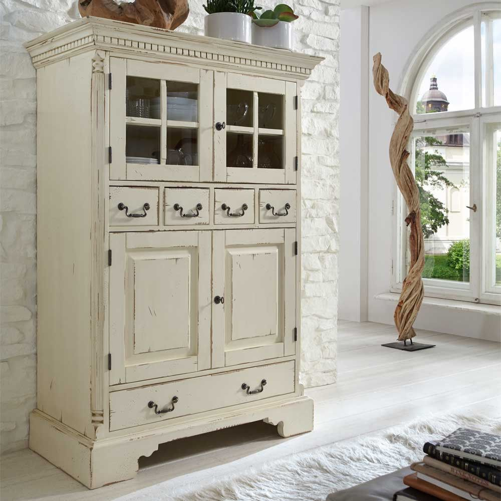 highboard lantikia im shabby chic design aus fichte massivholz in 2018 shabby chic pinterest. Black Bedroom Furniture Sets. Home Design Ideas