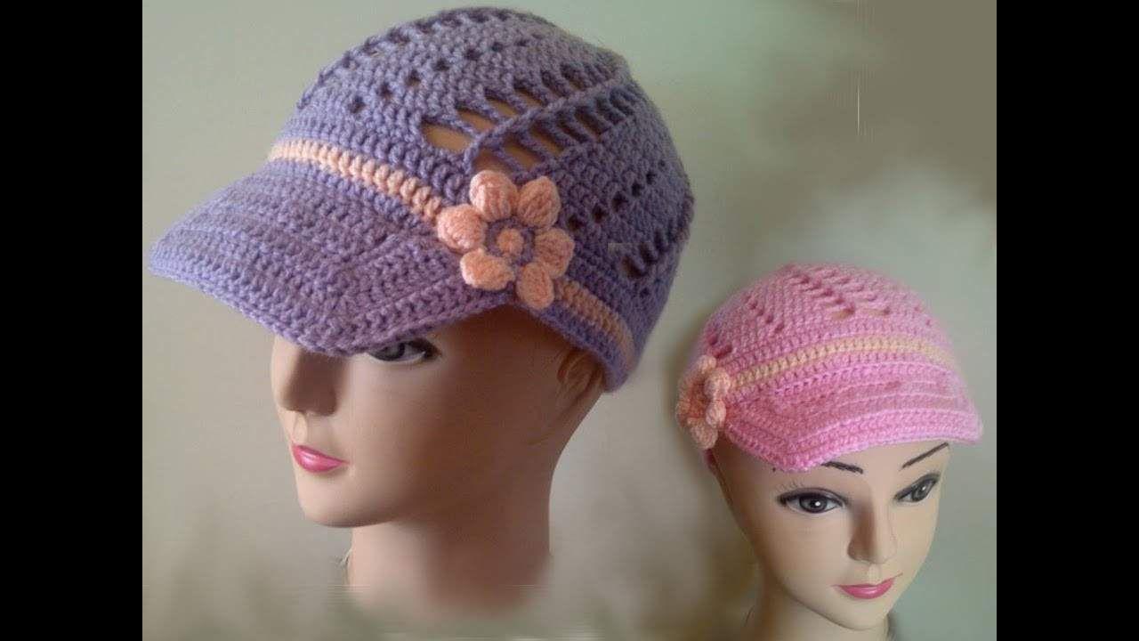 How to crochet a hat peak free crochet pattern tutorial
