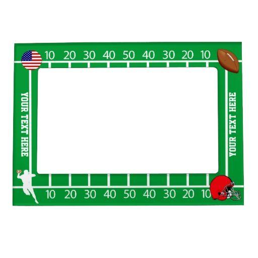 Football Photo Frame Magnet